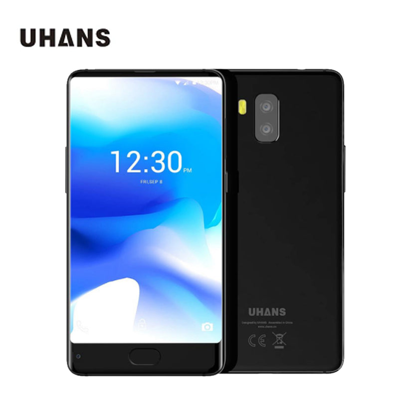 In stock UHANS MX 5.2 Inch Smartphone HD Screen MTK6580 Quad Core 2GB RAM 16GB ROM Touch ID 3000mAh  mobile phone