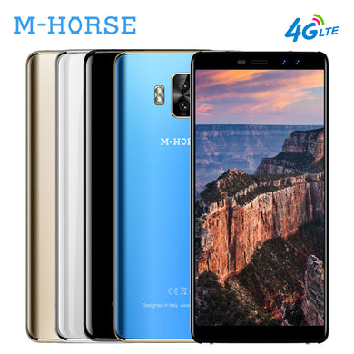 M-HORSE Pure 1 4G 18:9 Smartphone 5.7 Inch Full Screen Android 7.0 Quad Core 3GB+32GB 4380mAh 4 Cameras Mobile Phone Cellphone