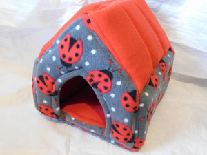 Grey Ladybird Piggie Manor / Red Lining - Pampered Piggies Boutique