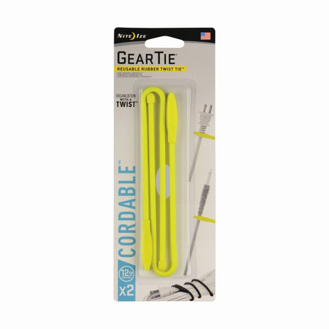 Gear Tie Cordable Twist Tie 12 In -2 Pk [GTK12-33-2R7_STOCK]