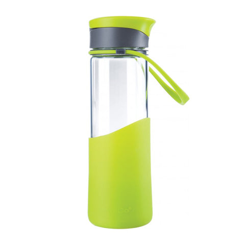 Migo Enjoy Glass Sport Water Bottle 0.55L Botanical Green [10-03009-001_STOCK]
