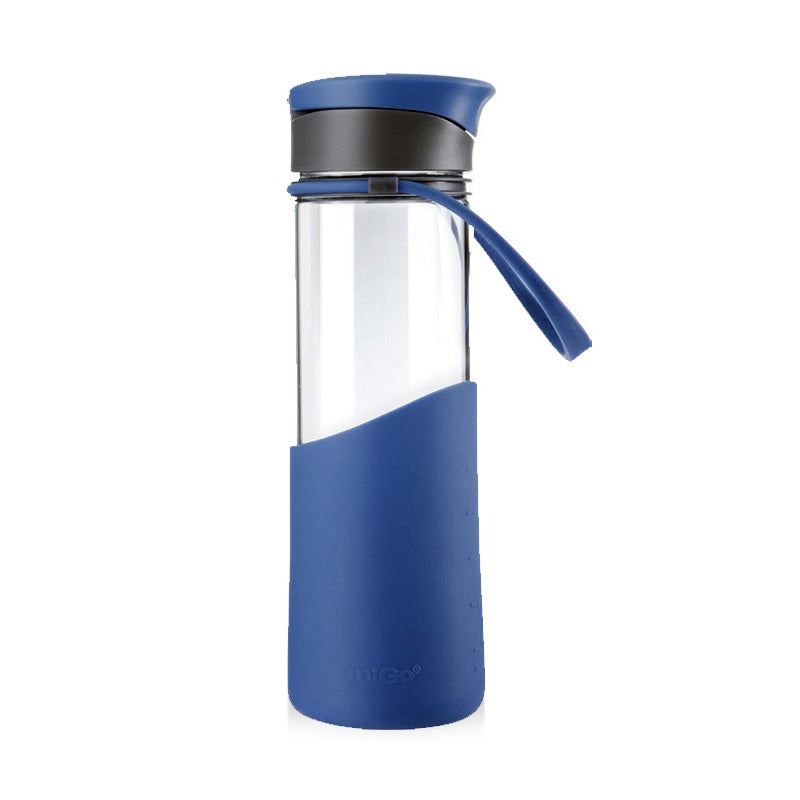 Migo Enjoy Glass Sport Water Bottle 0.55L Azure Blue [10-03009-002_STOCK]