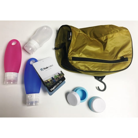 Flight Bottle Set (2x98ml 2x20ml 1x60ml) with SAMPLE Toiletry Bag [STOR09_SAMPLE]