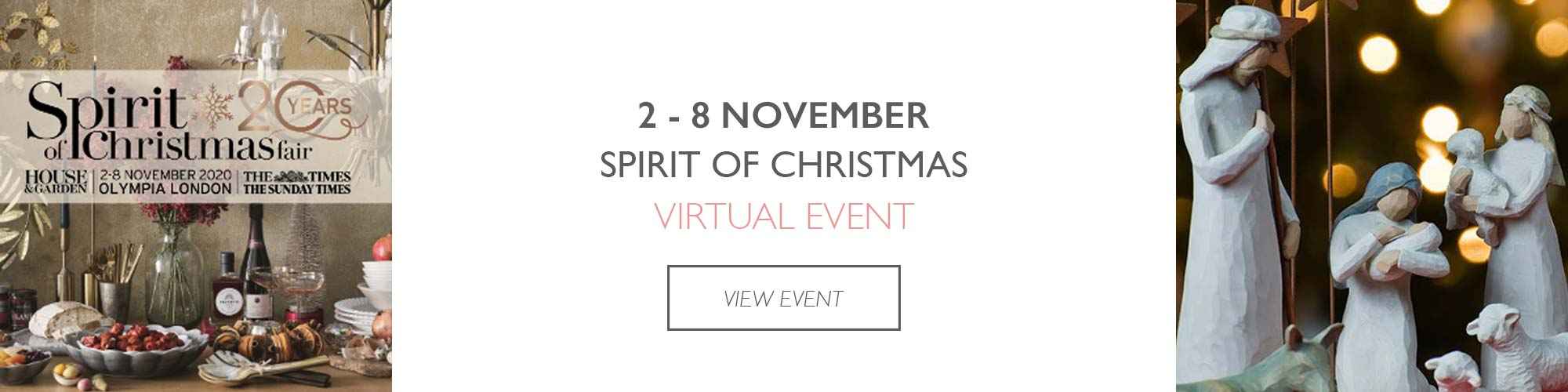spirit of christmas virtual event dates