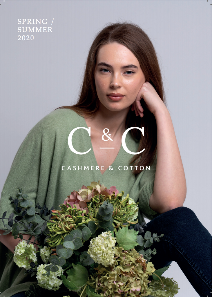 cashmere and cotton spring summer 2020 brochure front cover