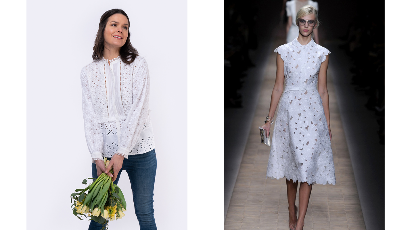 broderie anglaise white cotton shirt and dress