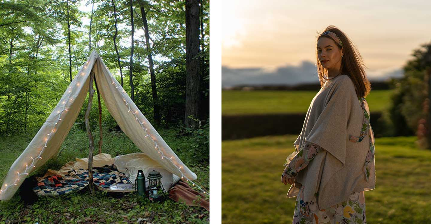 camping under the stars in your garden