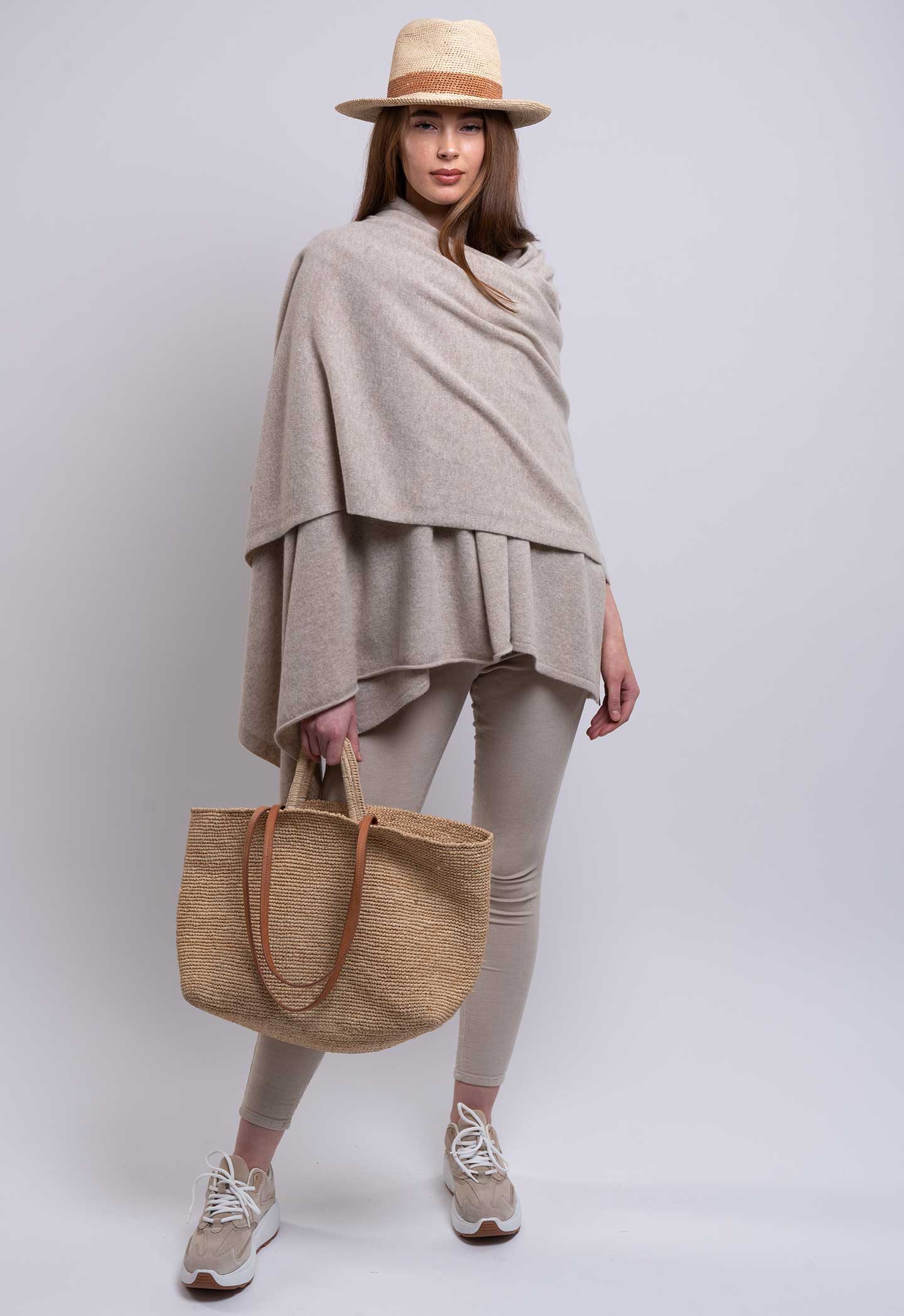 chinchilla cashmere travel wrap