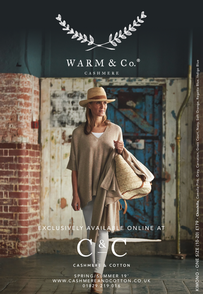 front cover of cashmere clothing brochure