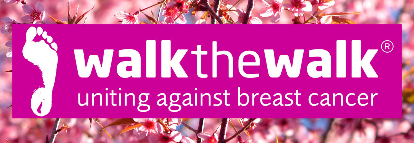 walk the walk charity on a floral blossom background