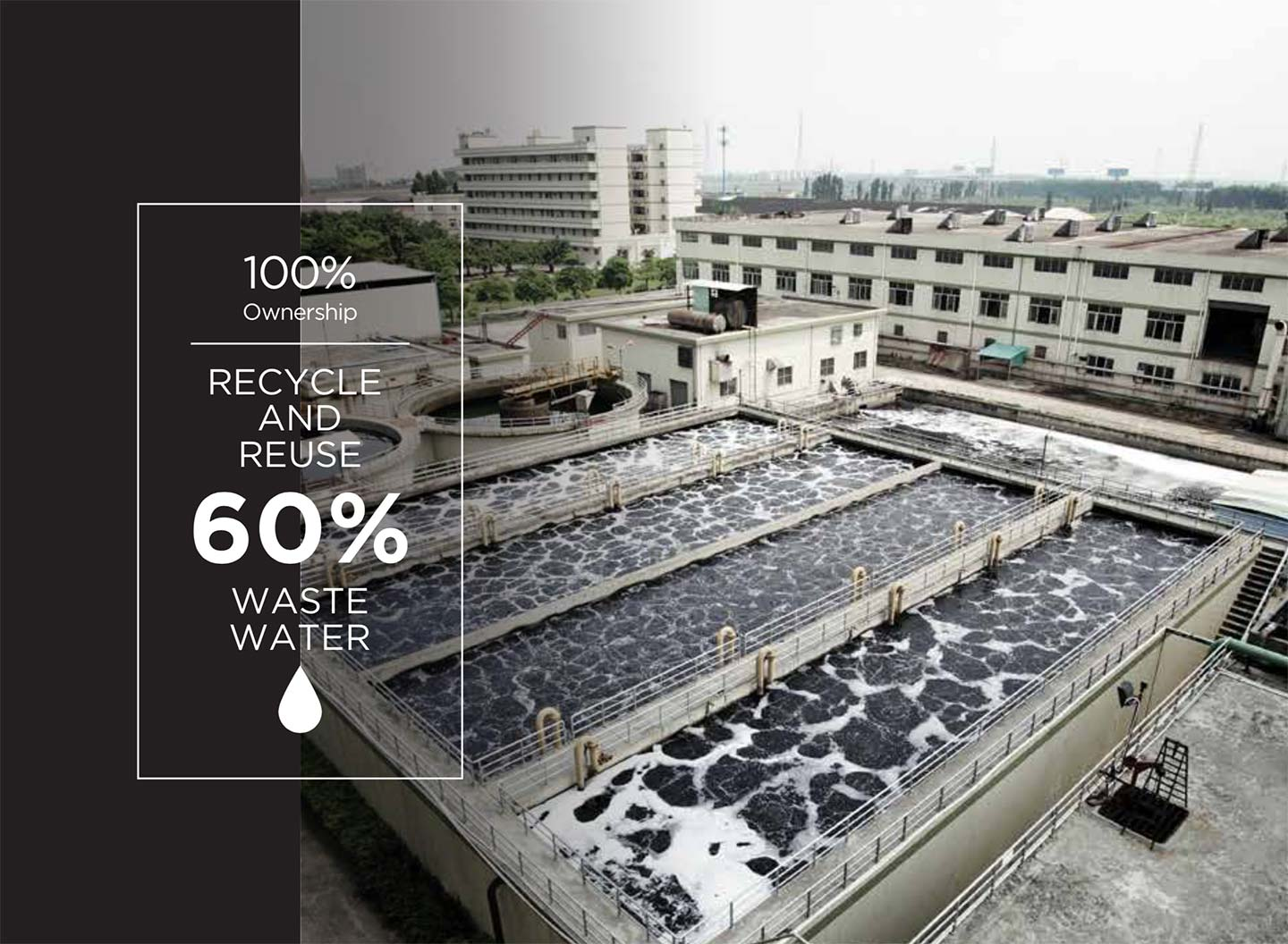 recycled waste water for sustainable future from ethical cashmere production
