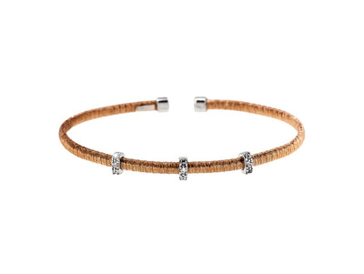 Silver Strand Cuff  Bangles Rose Gold Rhodium FinishedBangles - JOOLS By Jenny Brown