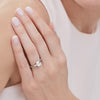 STERLING SILVER ONE AND A HALF  CARAT EMERALD CUT SOLITAIRE RINGRings - JOOLS By Jenny Brown