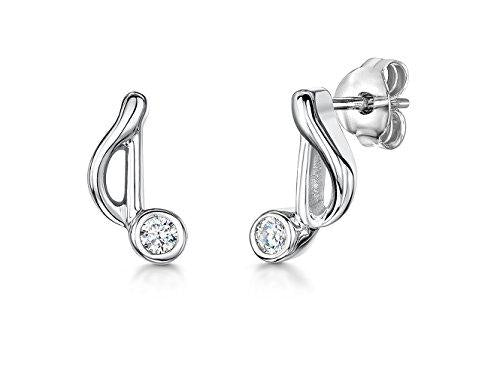 Sterling Silver Music Note  Stud Earrings - JOOLS By Jenny Brown