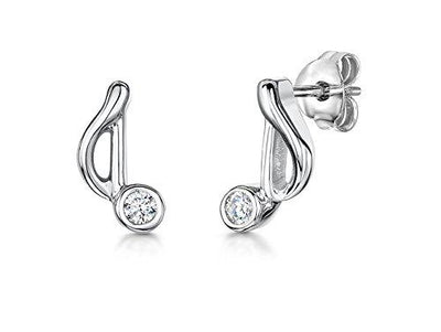Sterling Silver Music Note  Stud EarringsEarrings - JOOLS By Jenny Brown