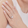 Sterling Silver 3.8 Carat  Solitaire Cubic Zirconia RingRings - JOOLS By Jenny Brown