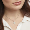 STERLING SILVER AND FRESHWATER  PEARL FLOWER NECKLACE SET WITH A  WHITE ZIRCONIA SURROUNDNecklace - JOOLS By Jenny Brown