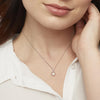 Sterling Silver And  Freshwater Pearl Necklace  With A  Silver Star SurroundNecklace - JOOLS By Jenny Brown