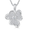 Sterling Silver And White Zirconia Split Petal Flower Necklace With A  Zirconia CentrePendants - JOOLS By Jenny Brown