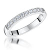 Sterling Silver And Cubic Zirconia Half Eternity RingRings - JOOLS By Jenny Brown