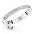 Sterling Silver And Cubic Zirconia Half Eternity Ring