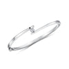 Sterling Silver Bangle With A Single Zirconia In A  Crossover SettingBracelets - JOOLS By Jenny Brown