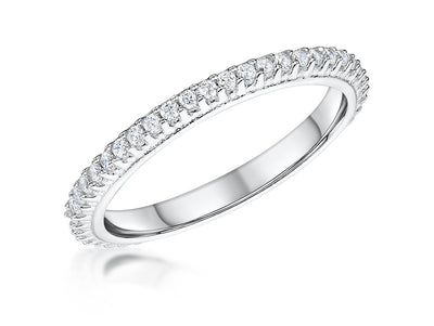 STERLING SILVER ETERNITY RING SET WITH CUBIC ZIRCONIA STONESRings - JOOLS By Jenny Brown