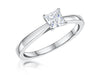 STERLING SILVER HALF A CARAT CARAT PRINCESS CUT SQUARE SOLITAIRE RINGRings - JOOLS By Jenny Brown