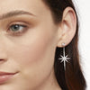 Sterling Silver Large North Star Drop  Stud Earrings With Brilliant Zirconia Stones - Platinum FinishedEarrings - JOOLS By Jenny Brown