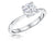 STERLING SILVER ONE AND A HALF ROUND BRILLIANT SOLITAIRE RING