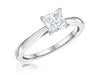 STERLING SILVER ONE CARAT PRINCESS CUT SQUARE SOLITAIRE RINGRings - JOOLS By Jenny Brown