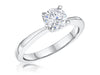 STERLING SILVER ONE  CARAT  ROUND BRILLIANT CUT SOLITAIRE RING SET WITH A SINGLE CUBIC ZIRCONIA STONERings - JOOLS By Jenny Brown
