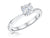 STERLING SILVER ONE  CARAT  ROUND BRILLIANT CUT SOLITAIRE RING SET WITH A SINGLE CUBIC ZIRCONIA STONE