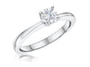 STERLING SILVER ONE HALF CARAT ROUND BRILLIANT SOLITAIRE RING SET WITH A SINGLE CUBIC ZIRCONIA STONERings - JOOLS By Jenny Brown
