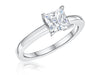 STERLING SILVER ONE AND A QUARTER CARAT PRINCESS CUT SQUARE SOLITAIRE RINGRings - JOOLS By Jenny Brown