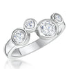 Sterling Silver Raindance Ring Set With 4 White Zirconia StonesRings - JOOLS By Jenny Brown