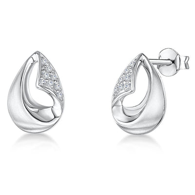 Sterling Silver Teardrop Stud EarringsEarrings - JOOLS By Jenny Brown