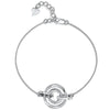 Sterling Silver Bracelet With  Cubic Zirconia StoneBracelets - JOOLS By Jenny Brown