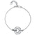 Sterling Silver Bracelet With  Cubic Zirconia Stone