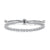 Sterling Silver Friendship Bracelet Set With Brilliant Round Cubic Zirconia Stones