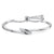Sterling Silver  and Cubic Zirconia Friendship Bracelet With a Cross Over Silver Feature