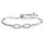 Sterling Silver  and Cubic Zirconia Infinity Bow Friendship Bracelet