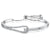 Sterling Silver  and Cubic Zirconia Friendship  Bracelet with A  Solitaire Stone And  Clasp Feature