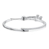 Sterling Silver  and Cubic Zirconia Friendship  Bracelet With Overlapping BandsBracelets - JOOLS By Jenny Brown
