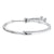 Sterling Silver  and Cubic Zirconia Friendship  Bracelet With Overlapping Bands