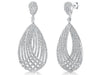 Sterling Silver Delicate Stranded Woven Earrings With Pave Set Cubic Zirconia Stonesdrop earrings - JOOLS By Jenny Brown