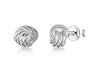 Sterling Silver Small Woven  Knot Stud EarringsEarrings - JOOLS By Jenny Brown