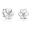 Sterling Silver Flower Stud Earrings With A  Cubic Zirconia Centre Stoneearrings - JOOLS By Jenny Brown