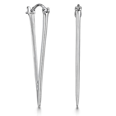 Sterling Silver  Triangle Drop EarringsEarrings - JOOLS By Jenny Brown