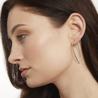 Sterling Silver Pull Through Sail EarringsEarrings - JOOLS By Jenny Brown